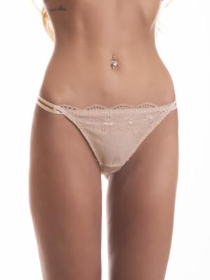 Embrace testszínű csipkés bikini bugyi