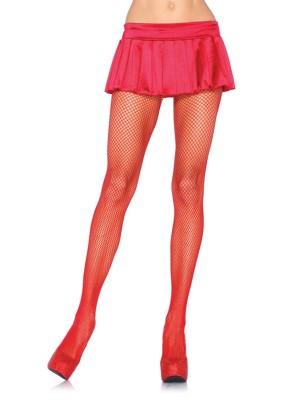 Piros színű necc harisnyanadrág