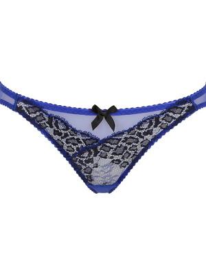 Reya kék-fekete csipkével díszített női alsó