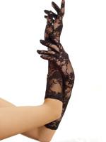 LAG1850-BLK-Fekete színű csipke kesztyű