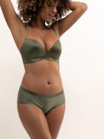 Zöld színű, varrás nélküli szivacsos melltartó