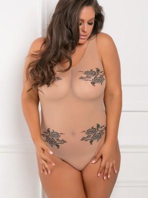 Testszínű plus size body