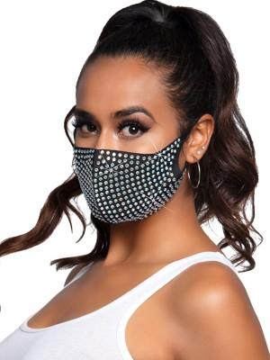 3D strasszos légáteresztő maszk