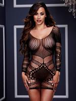 Különleges mintázatú necc ruha