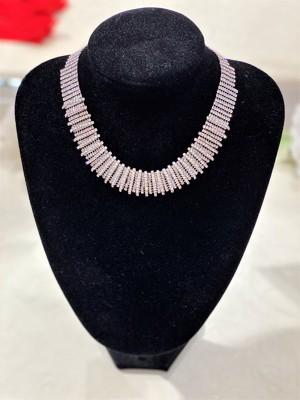 22-Exkluzív arany-ezüst strasszos nyaklánc