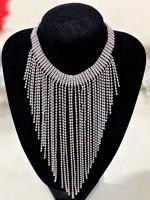 32-Extra strasszos ezüst bizsu nyaklánc