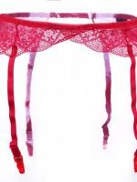 Piros csipkés harisnyatartó harisnyához