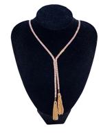 0006-Arany hosszú strasszos nyaklánc