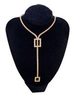 0007-Arany strasszos nyaklánc szett