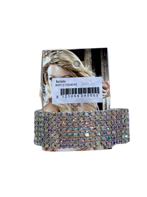 0001-Ezüst strasszos karkötő