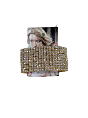 0002-Arany strasszos karkötő