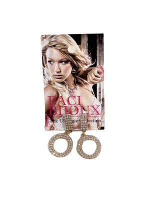 0004-Arany strasszos fülbevaló
