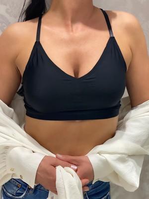 Ultra comfort fekete merevítő nélküli bralette