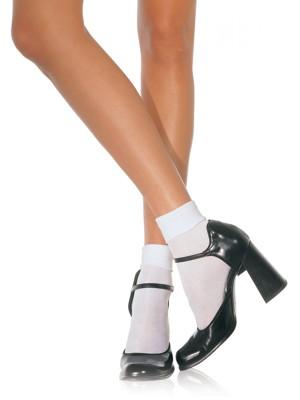 Spandex zokni szatén bokarésszel