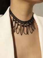002-Horgolt choker nyaklánc