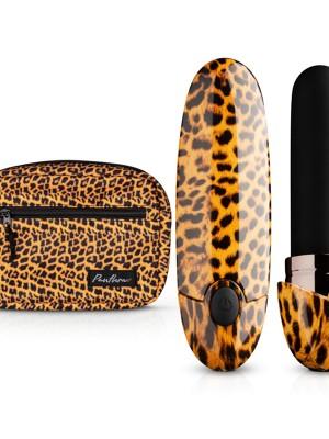 Leopard rúzs masszírozó készlet övtáskával