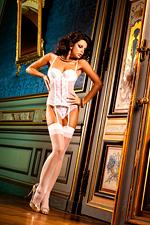 Fehér stocking díszvarrással