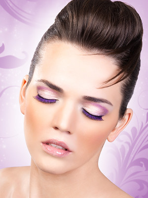 Magic colors műszempilla ragasztóval Black/Purple No.530