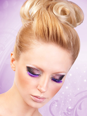 Magic colors műszempilla ragasztóval Black/Purple No.542