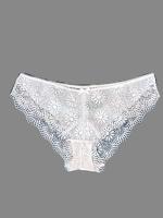 Crochet fehér csipkés bikini bugyi