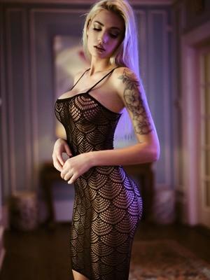 Spagettipántos necc ruha