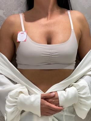 Head púderes testszínű merevítő nélküli felső